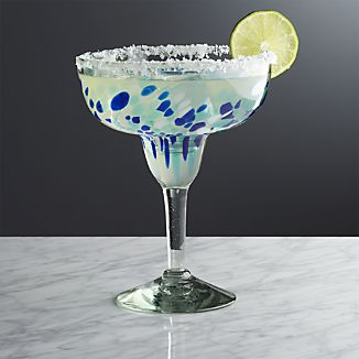 Rue Blue Margarita Glass