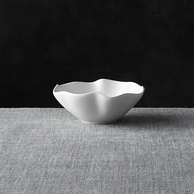 """White Ruffle 5.5"""" Dip Bowl - Image 1 of 12"""