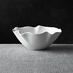 White Ruffle 11  Small Bowl