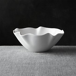 "White Ruffle 11"" Small Bowl"