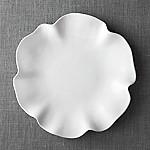 White Ruffle 16  Platter