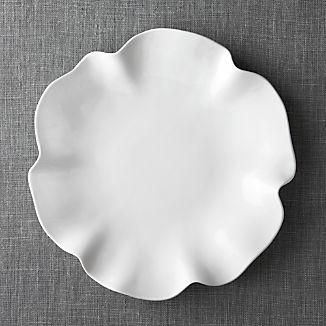 """White Ruffle 16"""" Platter"""