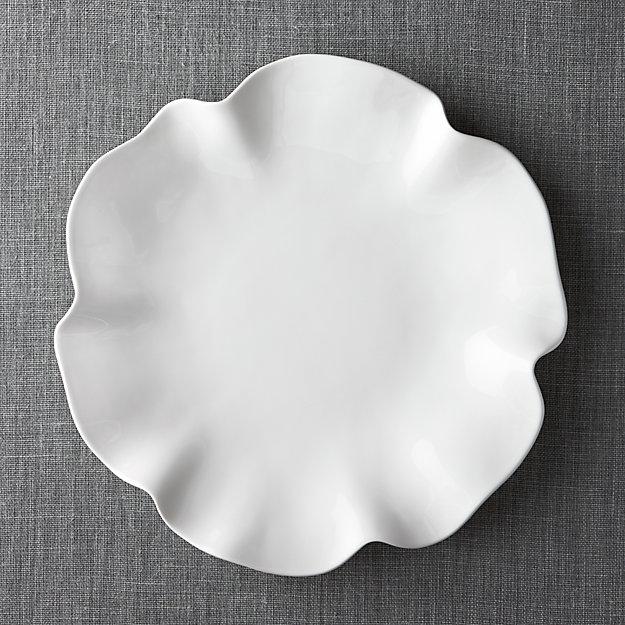 "White Ruffle 16"" Platter - Image 1 of 8"