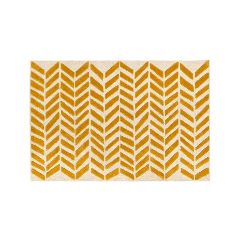 5x8 Yellow Chevron Rug