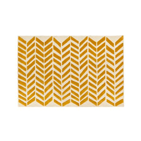 8x10 Yellow Chevron Rug