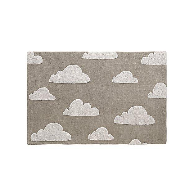 4x6 Grey Cloud Rug Reviews Crate And Barrel