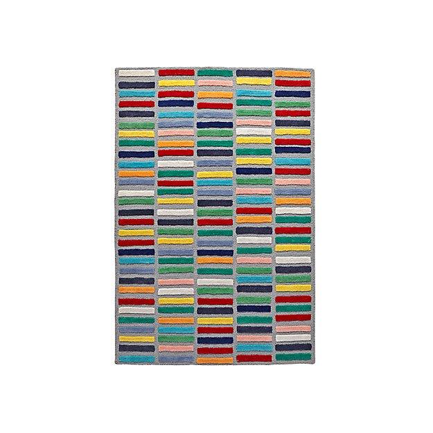 4x6 Color Bar Rug Reviews Crate And Barrel