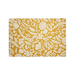 Yellow Floral Rug