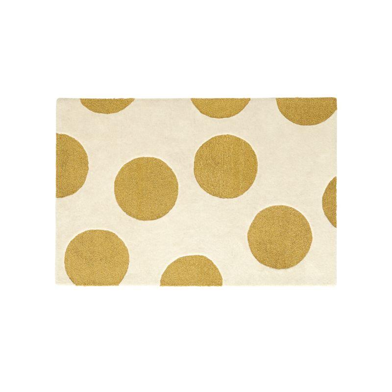 8x10 Gold Polka Dot Rug Reviews Crate And Barrel