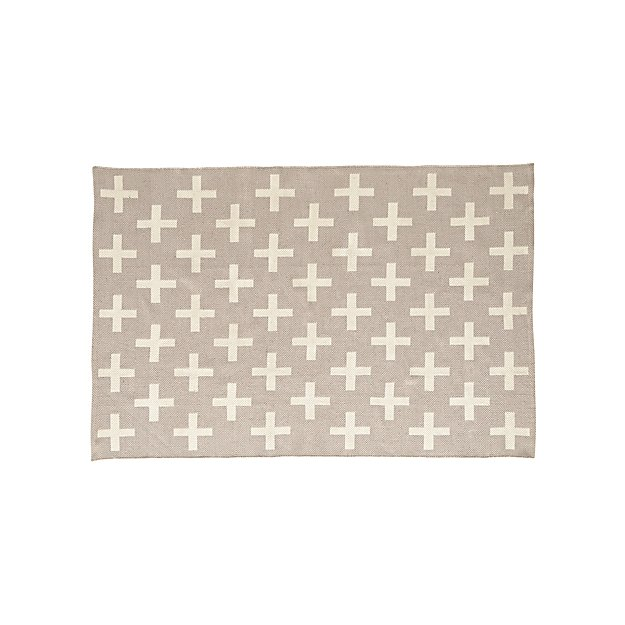 4x6 Grey Indoor Outdoor Rug in All Rugs + Reviews | Crate and Barrel