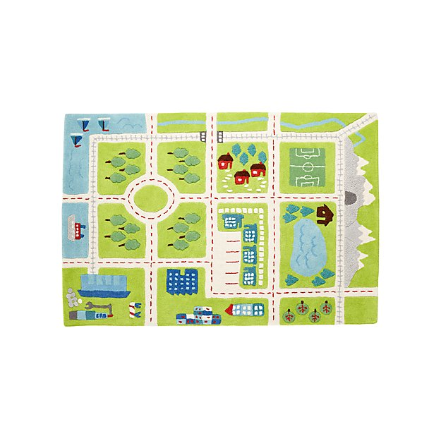 d6b2b16eaa51 Tiny Town 5x8' Road Play Rug