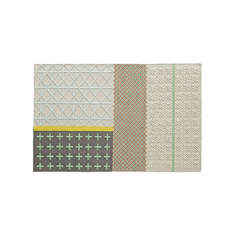 8x10 Neutral Patterned Rug Crate And Barrel
