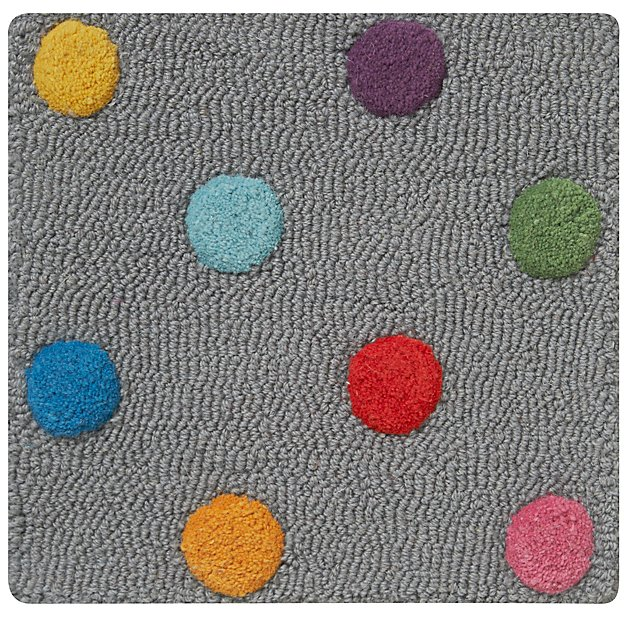 Grey Polka Dot Rug Swatch + Reviews