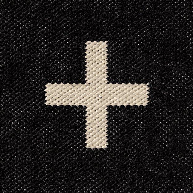 Positive Black Indoor Outdoor Rug Swatch - Image 1 of 11
