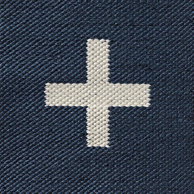 Positive Blue Indoor Outdoor Rug Swatch. - Image 1 of 9