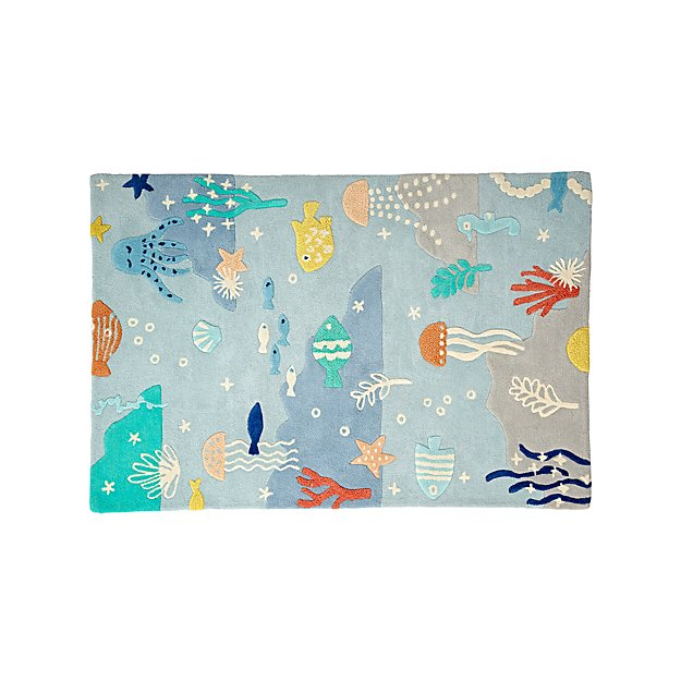Under The Sea 4 X 6 Rug Reviews Crate And Barrel