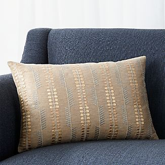 "Russel Natural 18""x12"" Pillow with Feather-Down Insert"