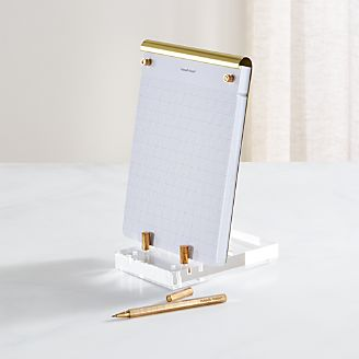 Russell + Hazel Acrylic And Gold Desk Accessories