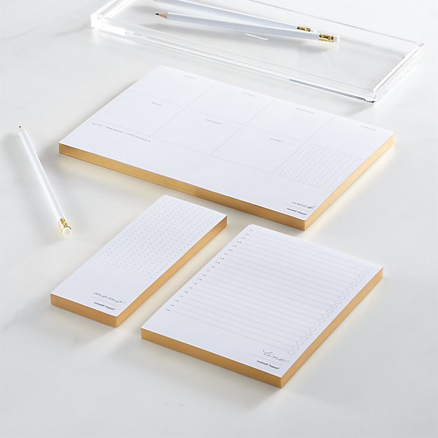 Russel + Hazel In Due Time Gold Notepad Set - Image 1 of 4