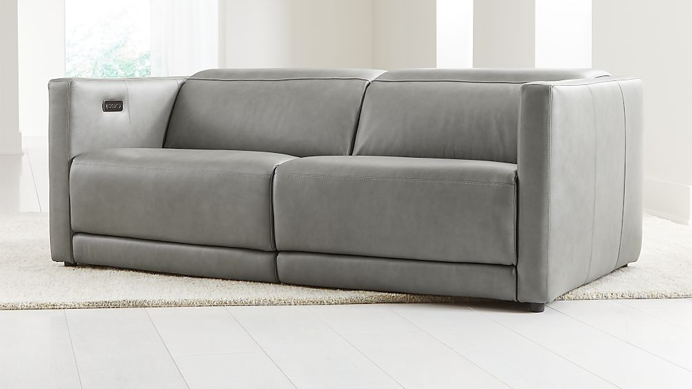 Russo Leather Power Reclining Sofa - Image 1 of 9