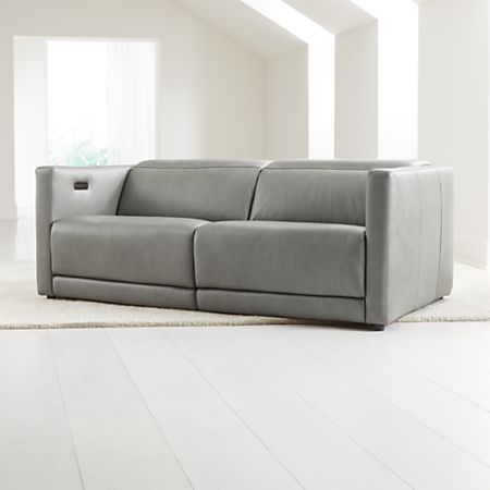 Awe Inspiring Russo Leather Power Reclining Sofa Crate And Barrel Pdpeps Interior Chair Design Pdpepsorg
