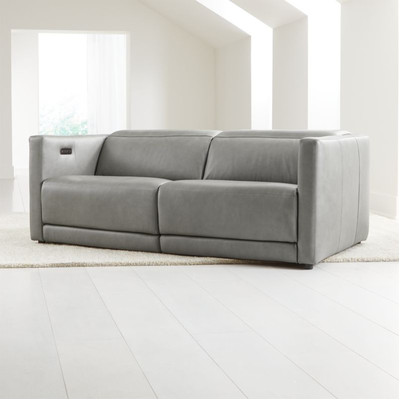 Russo Leather Reclining Sofa