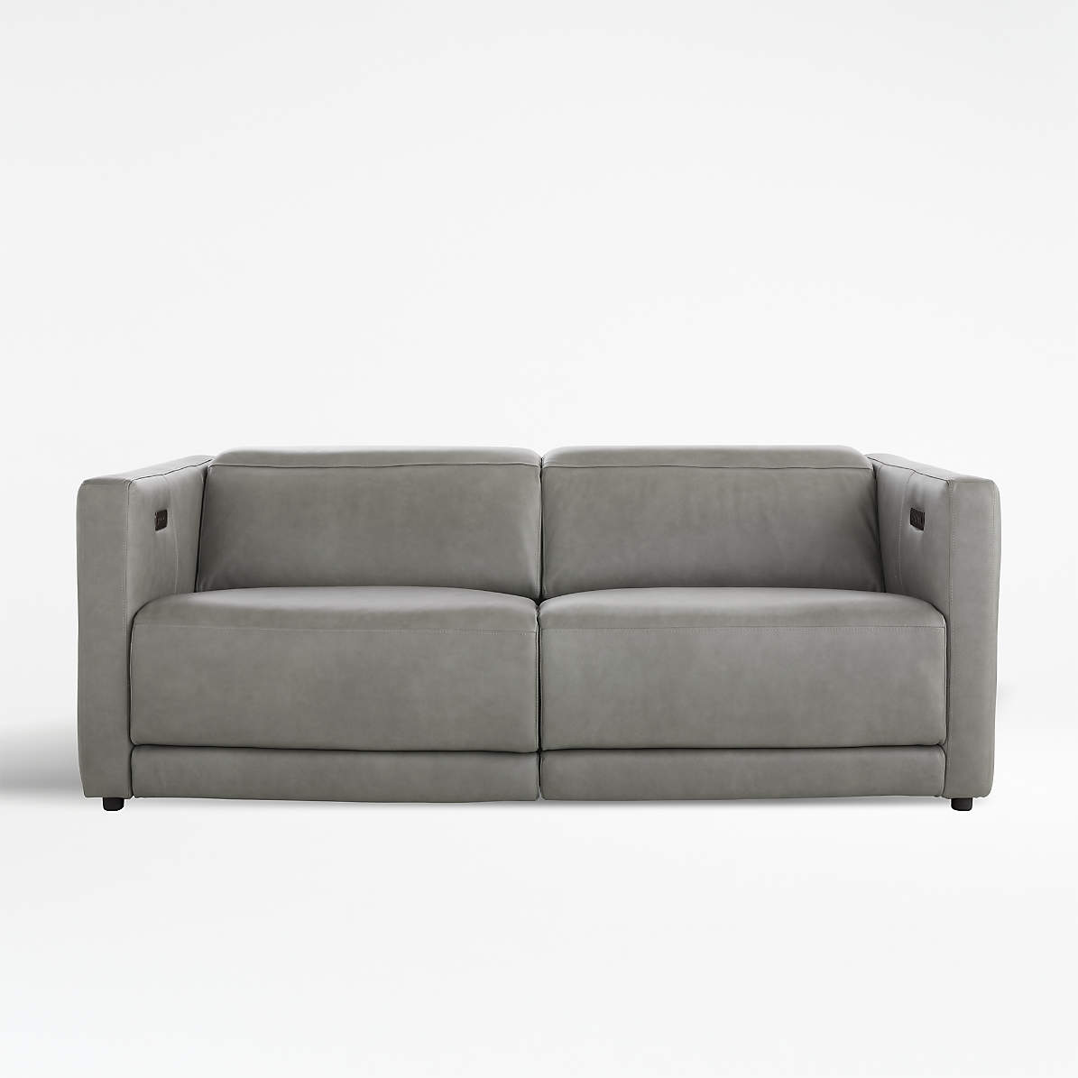 Picture of: Russo Leather Power Reclining Sofa Reviews Crate And Barrel