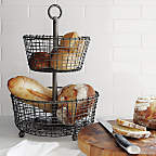 View product image Rustic2TierFruitBasketSC16 - image 7 of 11