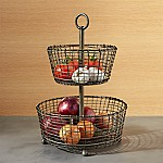 Bendt 2-Tier Iron Fruit Basket