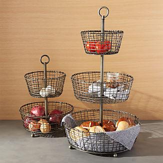 Bendt Tiered Iron Fruit Baskets