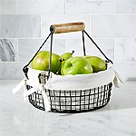 Bendt Handled Fruit Basket with Cloth Liner