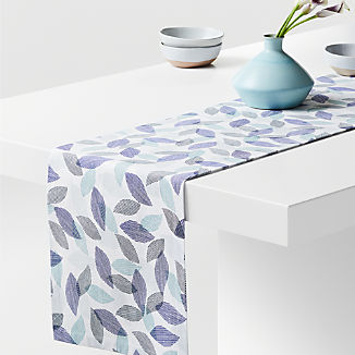 "Rustle 90"" Blue Table Runner"