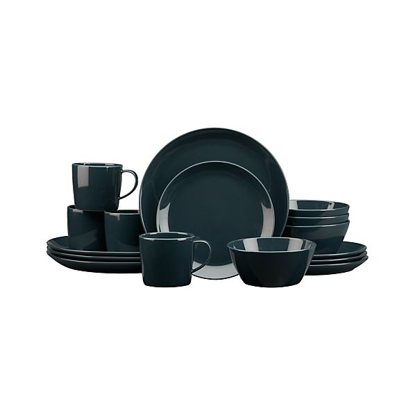 Rylan Deep Blue 16-Piece Dinnerware Set