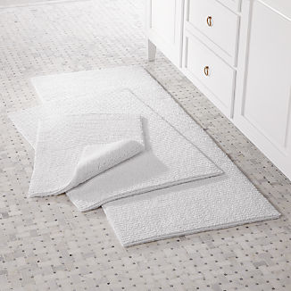 Rylan White Reversible Bath Rug