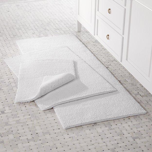 Rylan White Reversible Bath Rug - Image 1 of 2