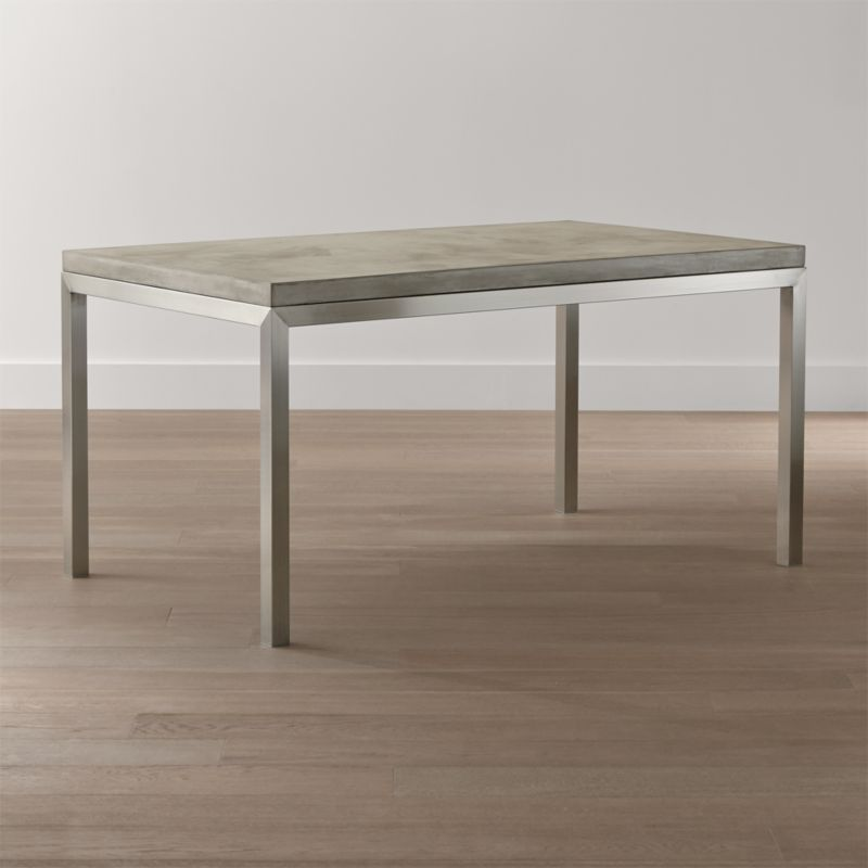 Parsons Concrete Top/ Stainless Steel Base Dining Tables | Crate And Barrel