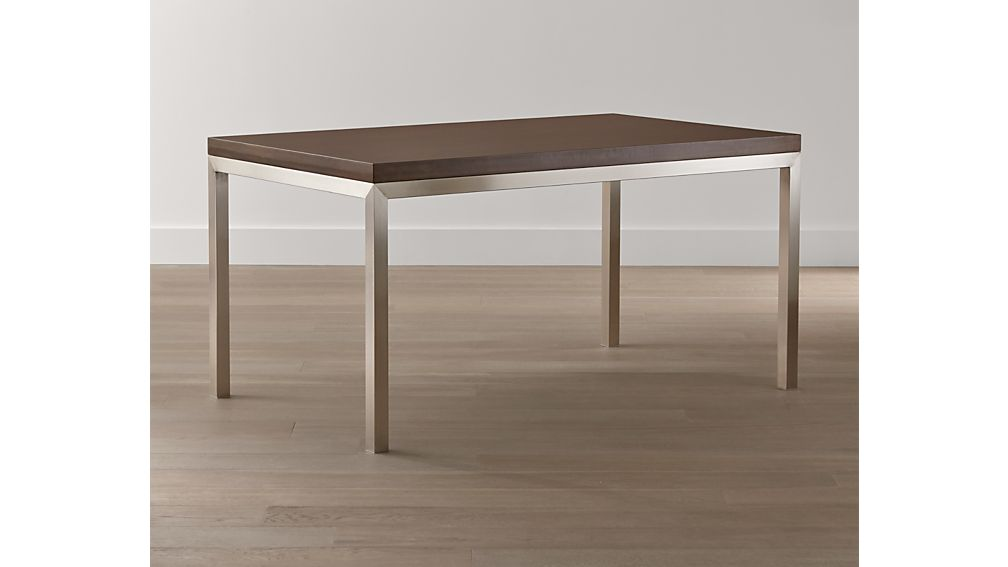 Parsons Myrtle Top/ Stainless Steel Base 48x28 Dining Table