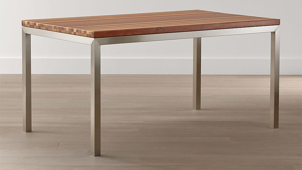 Parsons Reclaimed Wood Top/ Stainless Steel Base Dining Tables | Crate And  Barrel