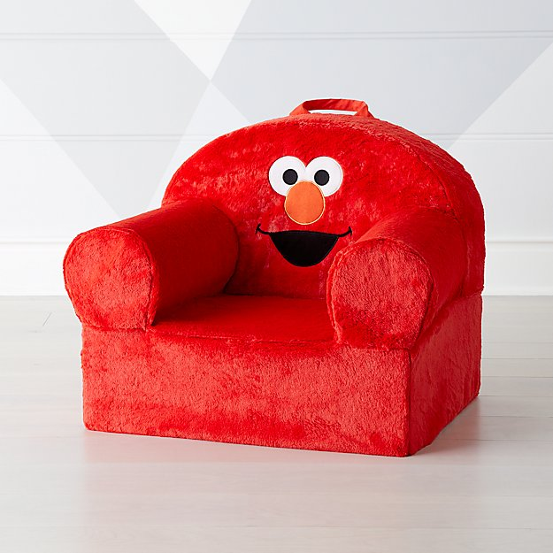 Sesame Street Large Furry Elmo Nod Chair Crate And Barrel