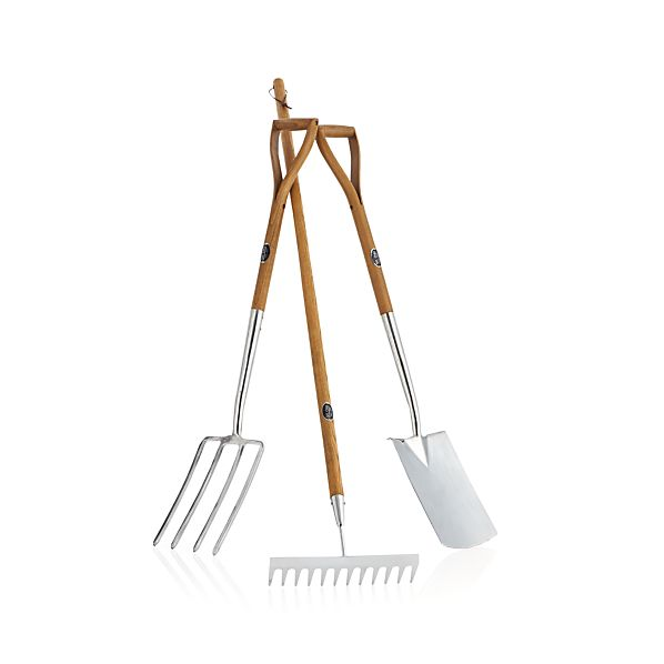 Set of 3 Stainless-Steel Garden Tools