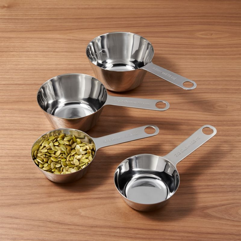 Stainless Steel Measuring Cups 2 3 3 4 1 1 2 Amp In