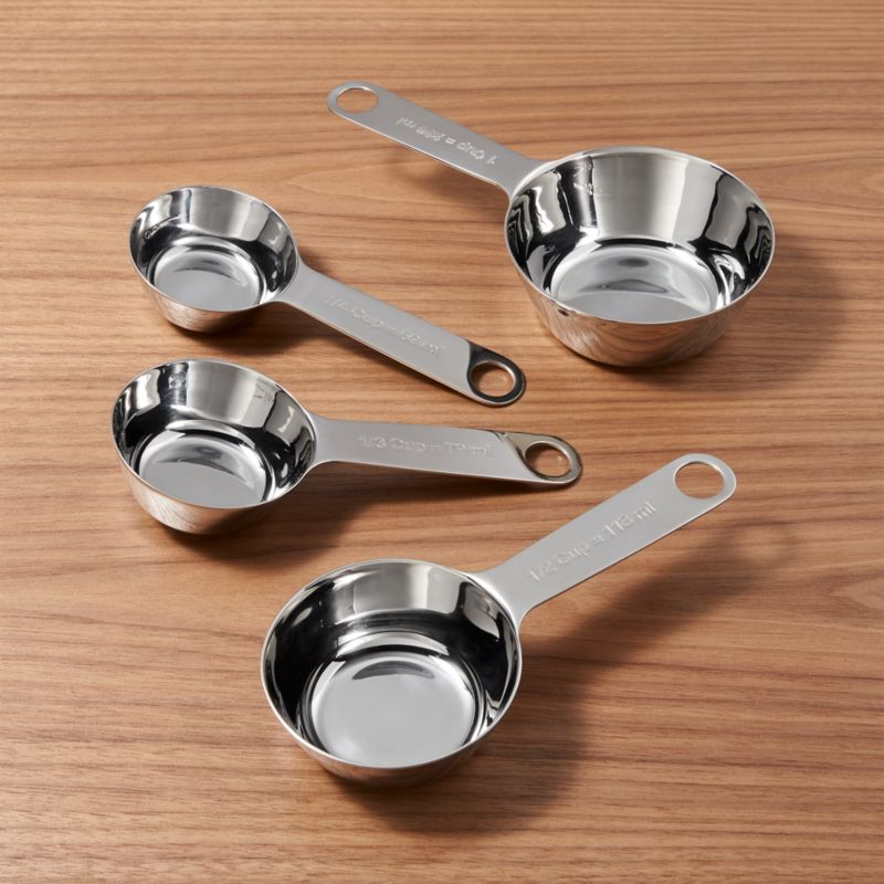 4 Piece Stainless Steel Measuring Cup Set by Crate&Barrel