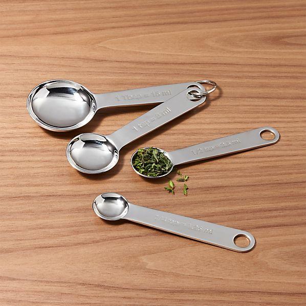 4-Piece Stainless Steel Measuring Spoon Set