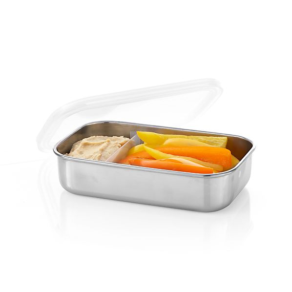 U Konserve ® Rectangular Stainless-Steel  Divided Container with Clear Lid