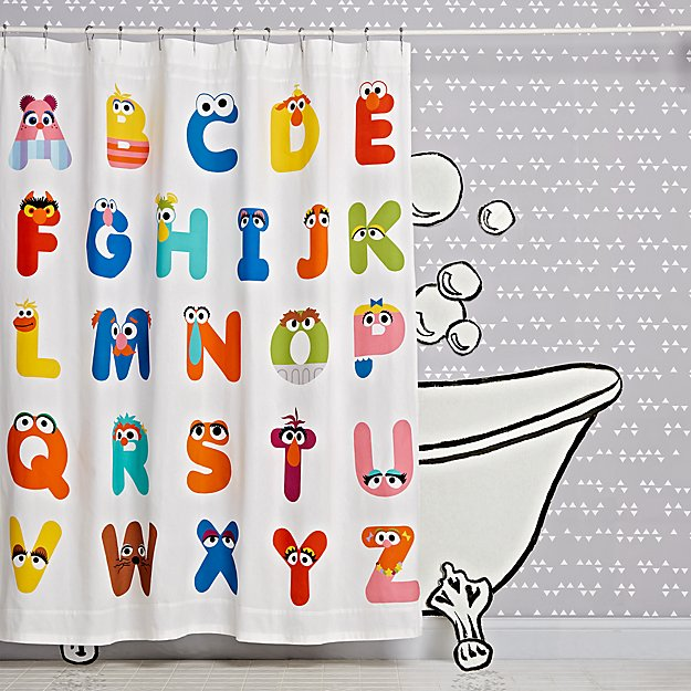 Sesame Street ABC Shower Curtain