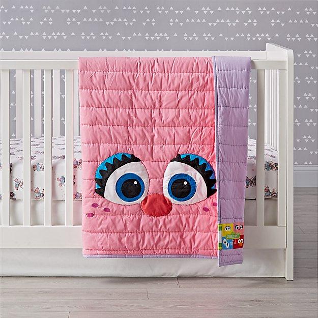 Sesame Street All Eyes Abby Cadabby Crib Bedding Crate