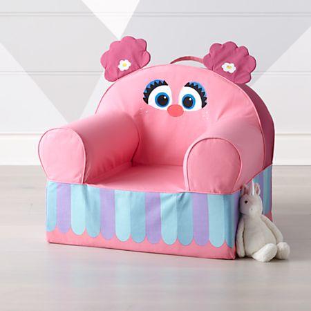 Wondrous Sesame Street Large Abby Cadabby Nod Chair Creativecarmelina Interior Chair Design Creativecarmelinacom