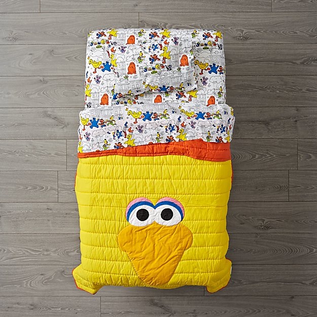 Sesame Street All Eyes Big Bird Toddler Bedding
