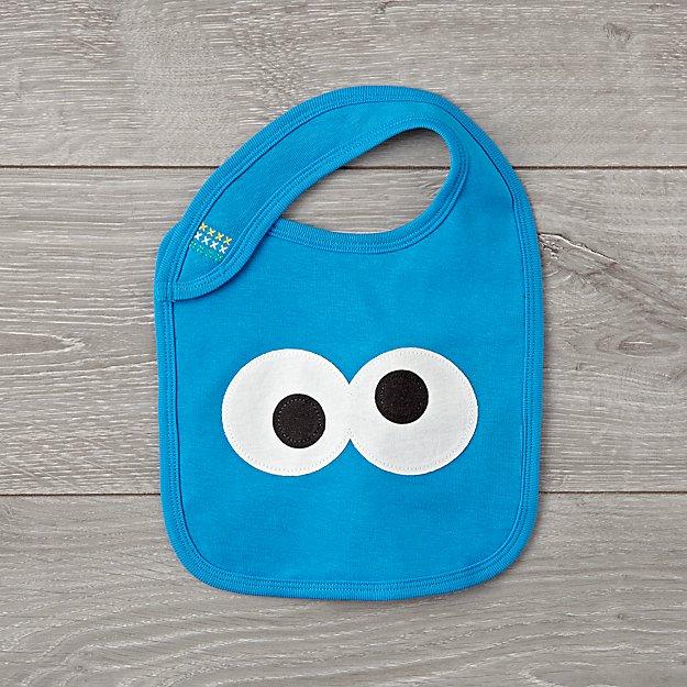 98e9549d Sesame Street Cookie Monster Bib + Reviews | Crate and Barrel