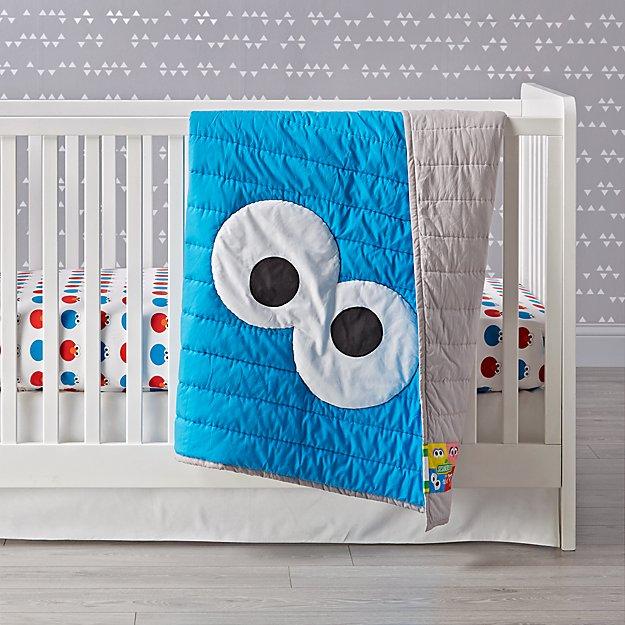Sesame Street All Eyes Cookie Monster Crib Bedding